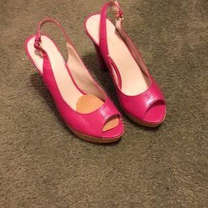 Ladies high heel peep toe sling back